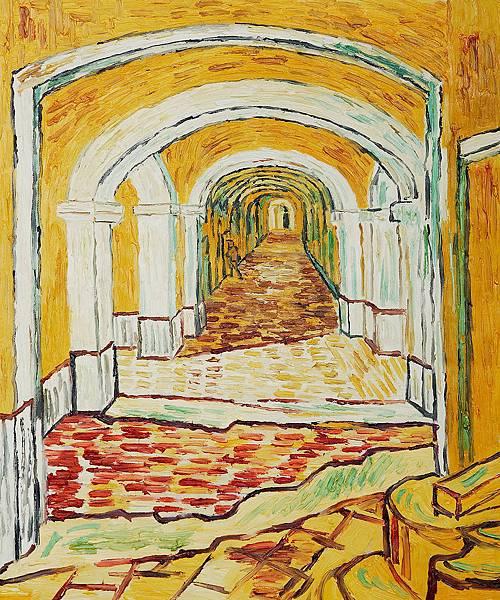 Corridor of Saint-Paul Asylum in Saint-Remy by Vincent Van Gogh OSA398.jpg