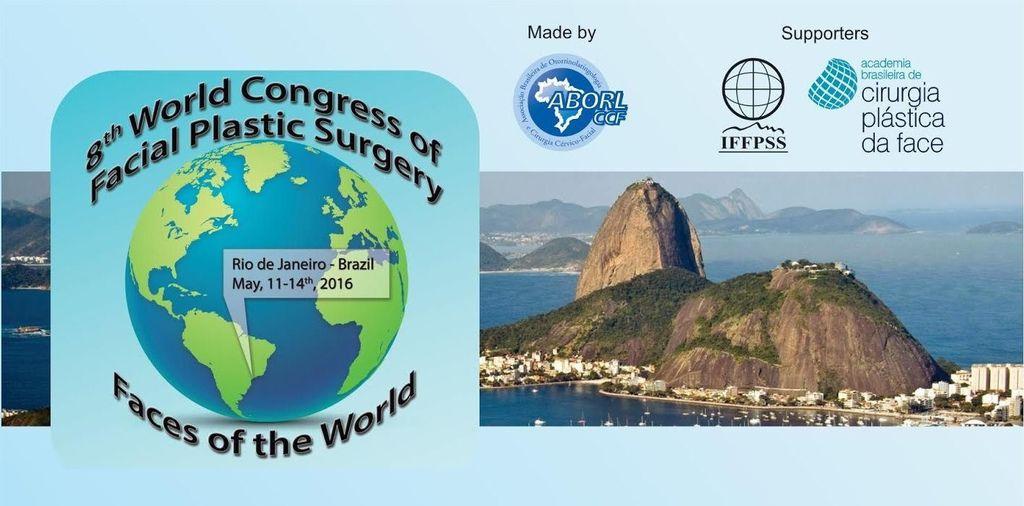 停診公告:2016-05-09~19 出國演講:巴西 里學熱內盧 - 第8屆 世界顏面整形大會 - 隆鼻手術演講