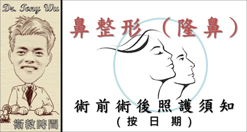 [手術衛教] 鼻整形手術-術前術後須知 v2016-07-17