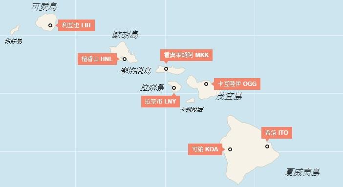 夏威夷地圖