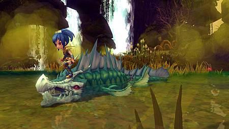 04漩流魚龍也可以當成座騎使用,踏在牠身上疾速而行也十分威風喔!.jpg