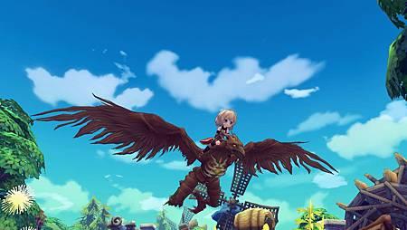 06騎乘在枯木巨鳥背上,便能自由自在地翱翔世界。.jpg