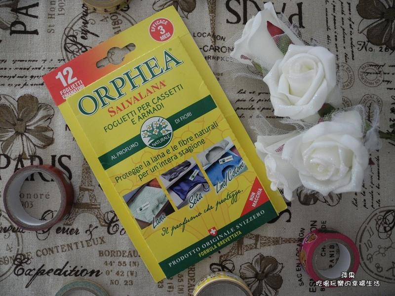 義大利原裝進口 ORPHEA歐菲雅經典花香衣物保護品掛片式 樟腦丸替代品1.jpg