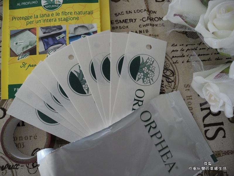 義大利原裝進口 ORPHEA歐菲雅經典花香衣物保護品掛片式 樟腦丸替代品4.jpg