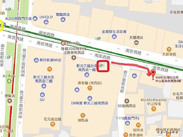 H2O Lovely沙龍中山站2號出口40.jpg