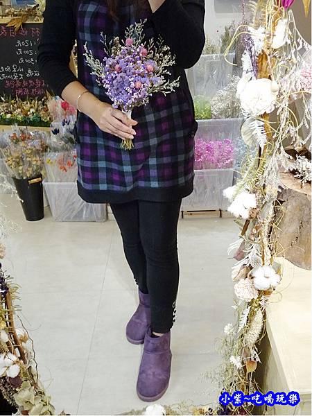 紫星辰新娘捧花-喜歡生活乾燥花店  (1).jpg