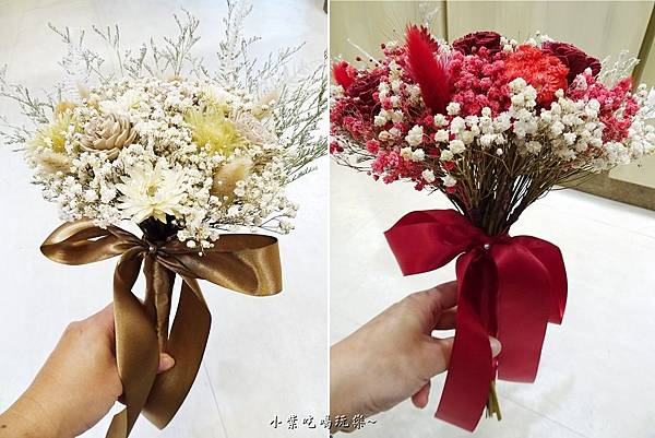 韓式有緞帶新娘捧花-喜歡生活乾燥花店  (1).jpg