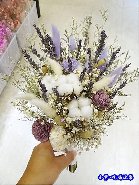 韓式長型手綁乾燥花捧花-喜歡生活乾燥花店 (4).jpg