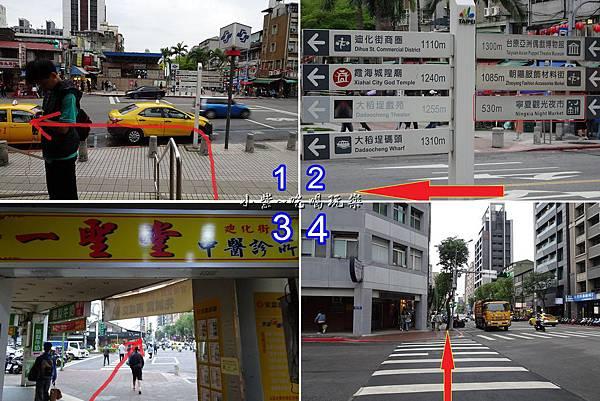 捷運雙連站-往寧夏夜市路線.jpg