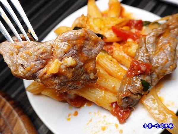 焗烤茄汁小牛筆管麵(加麵)-洋城義大利餐廳慶城店 (2).jpg