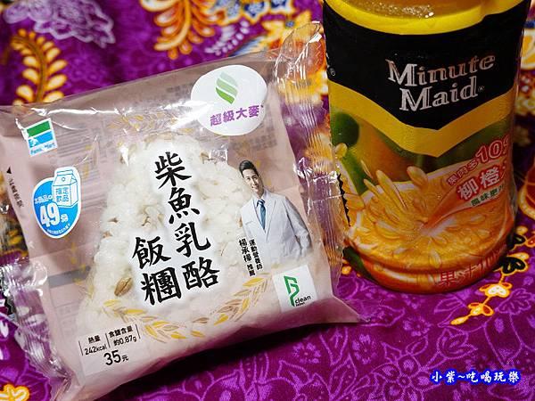 全家超級大麥-柴魚乳酪飯糰  (4).jpg