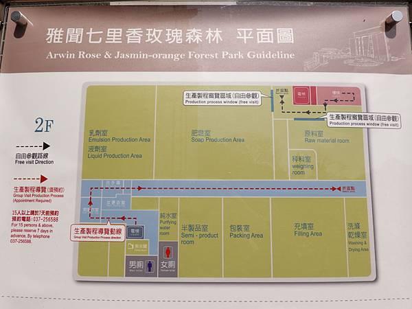 2樓生產線導覽地圖-苗栗-雅聞七里香玫瑰森林.JPG