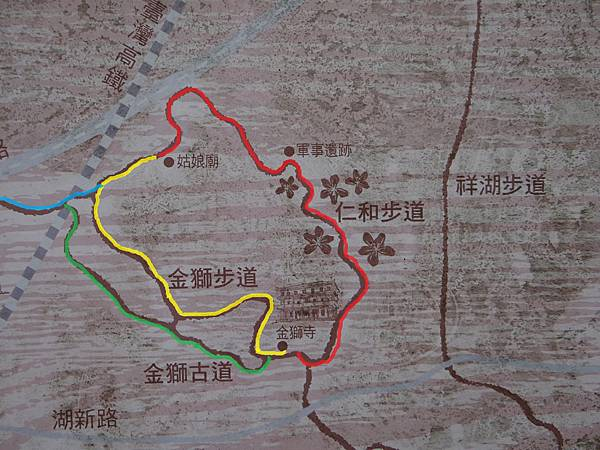 仁和步道、金獅步道、古道、萬年道步道地圖.JPG