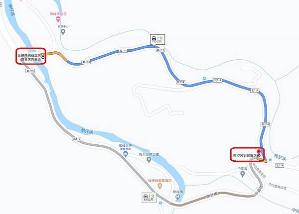 樂樂谷露營區到呂家雜貨店距離.JPG