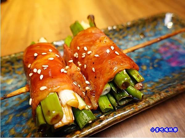 炙燒鮮葱豚肉卷-大河屋燒肉丼串燒台中大遠百店.jpg