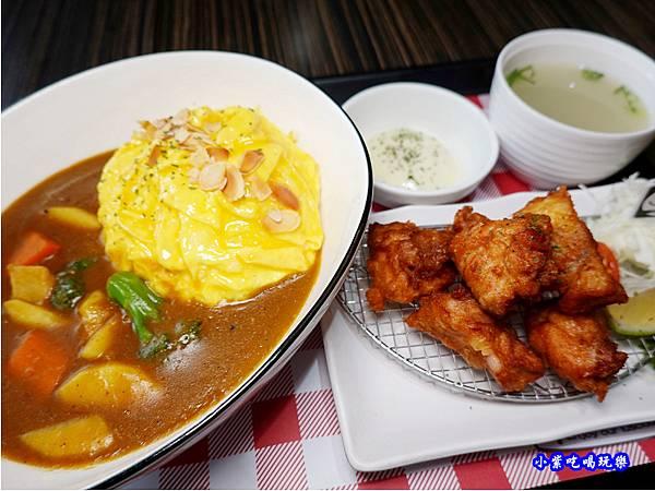 日式炸雞果香咖哩滑蛋飯-Mr38咖哩東海店 (3).jpg