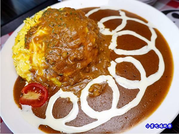 歐姆蛋肉醬咖哩飯-Mr38咖哩東海店 (4).jpg