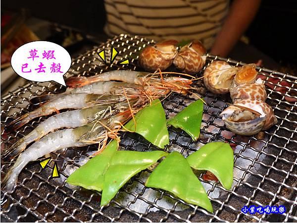 草蝦去殼-火之舞和牛燒烤吃到飽桃園店.jpg