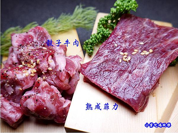 骰子牛、熟成牛菲力-火之舞和牛燒烤吃到飽桃園店.jpg