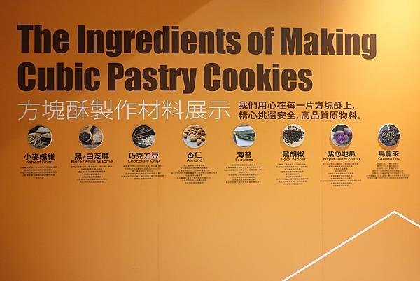 方塊酥製作材料展示-老楊方城市.JPG