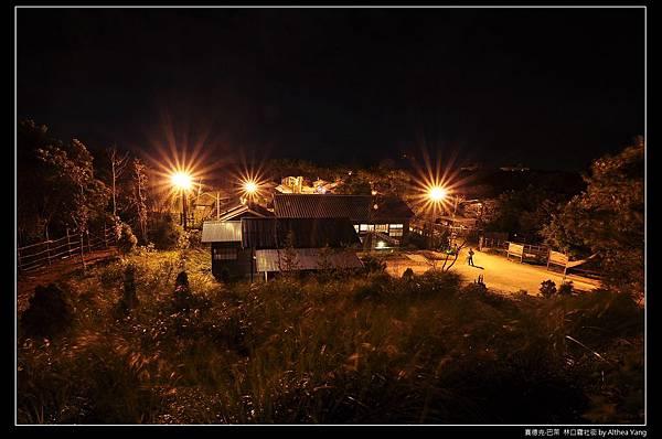 從武德殿往下俯拍的霧社街夜景...星芒真美*__*