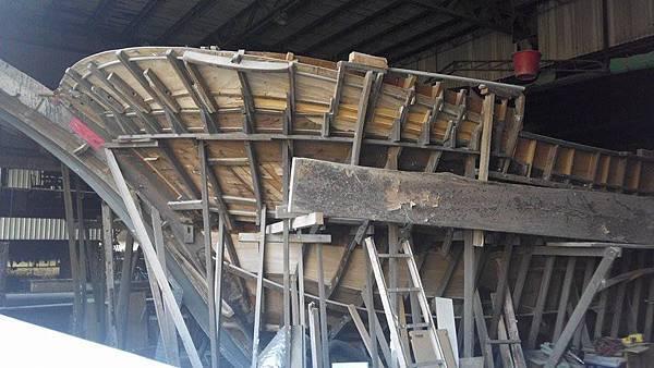 傳說中的木造船