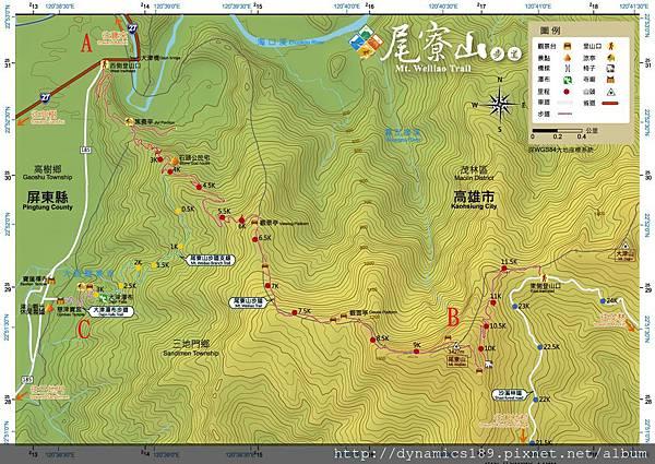 尾寮山地圖