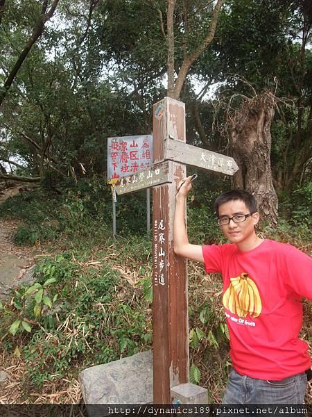尾寮山與大津瀑布的交叉口,上週就是少走了這段!