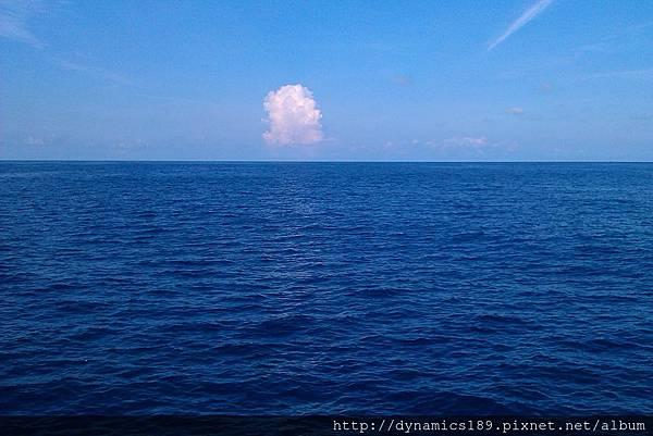 蔚藍的東沙海域