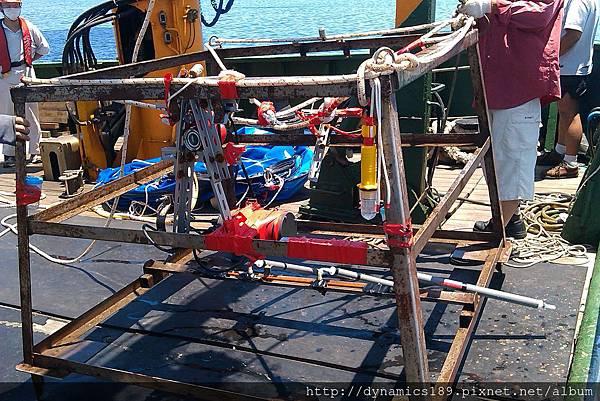 底碇角架,SeaHorse與攝影機、溫度計