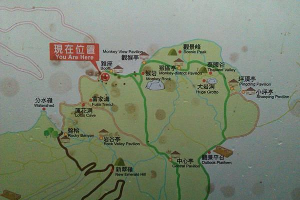 北登山步道地圖