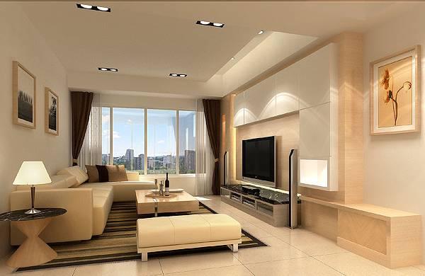 1客廳-白橡木底牆+橡木洗灰矮櫃.bmp