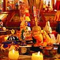 B 祈願法會 莊嚴的會場  ...4  壇城多瑪及供品.JPG