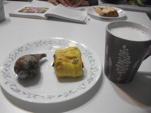 南瓜蔓越莓饅頭當早餐
