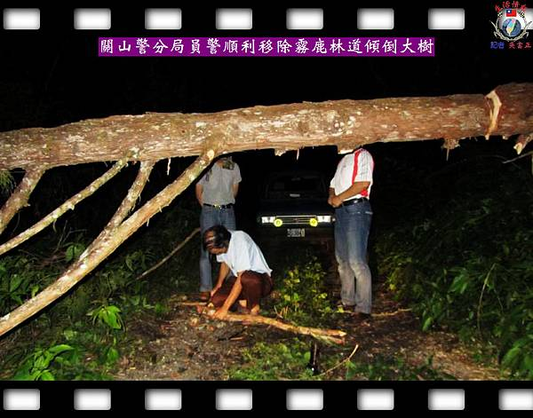 20140610-台東縣關山警分局員警順利移除霧鹿林道傾倒大樹1
