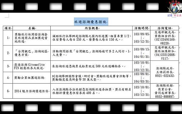20140915-旅遊澎湖優惠措施 - 複製