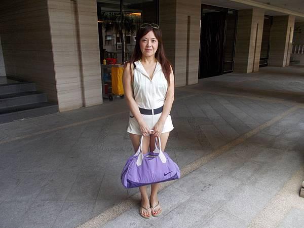 紫色運動袋