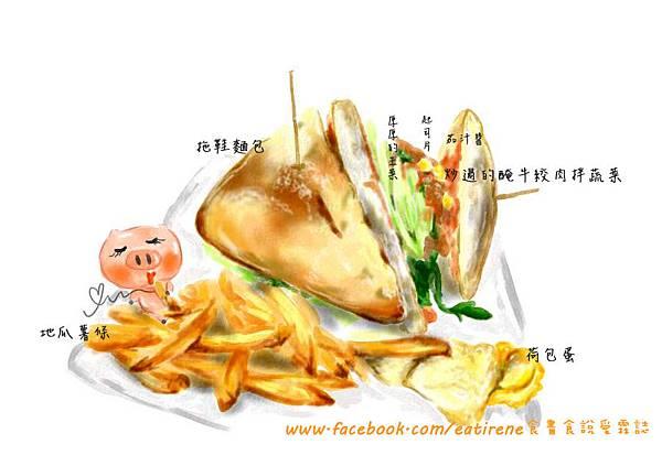 手繪三明治