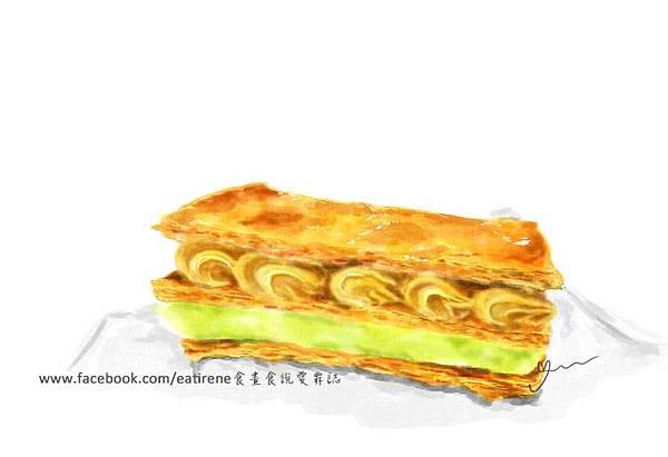 手繪食物(千層派