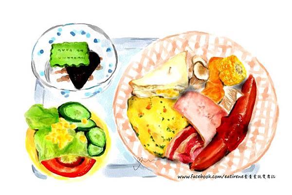 手繪美食早午餐