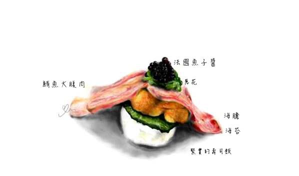 20131003_瞞著爹_海膽鮪魚肚握