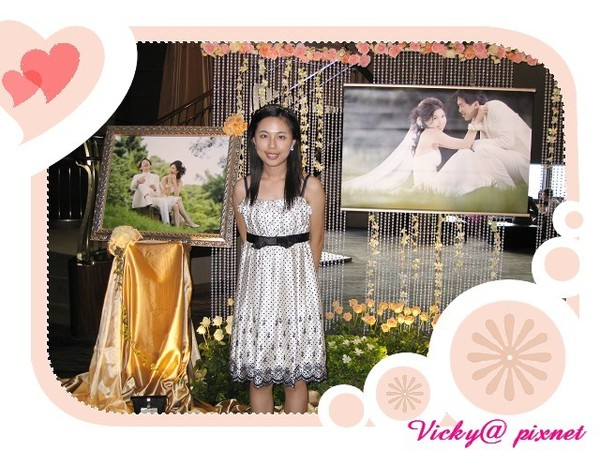 和美麗的婚紗照合影 ^^