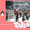 裝可愛的一群人在企鵝館前 :D