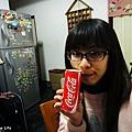 2011/02/04 初二喝可樂 哈哈