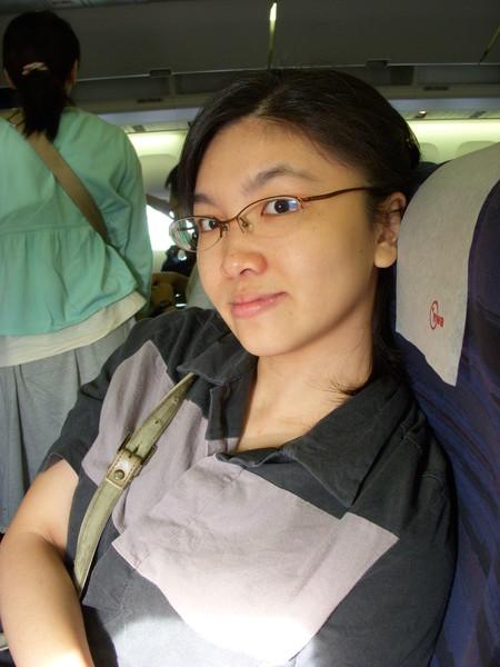 我在飛機上