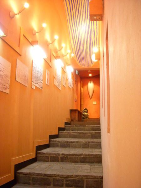 浮世繪館小小的樓梯
