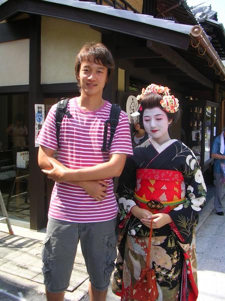 在二年阪遇到藝妓體驗的女生