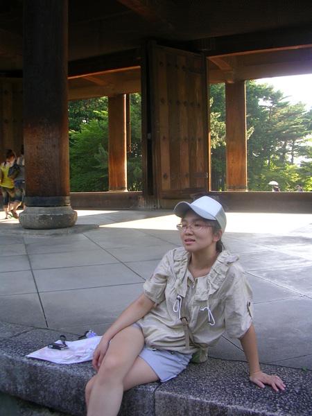 在南禪寺前歇腳休息