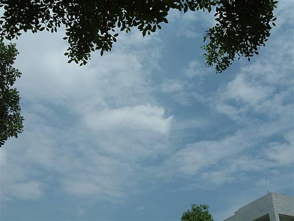 嘉義的藍天白雲