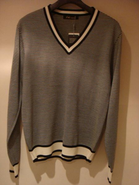 秋裝針織黑白斜條